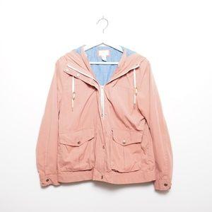 Forever 21 Women's Rose Pink & Blue Utility Jacket